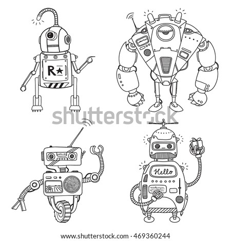 vector illustration of a robot