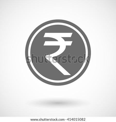 Vector illustration of  a rupee coin icon