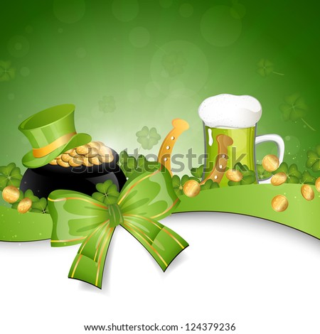 Vector Illustration of a Saint Patrick's Day Background - stock vector