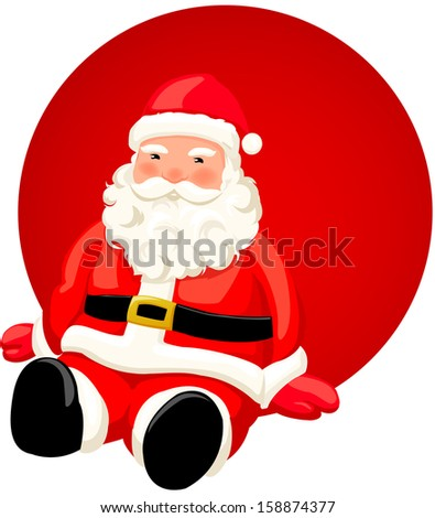 Vector illustration of a Santa Claus