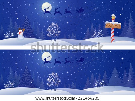 vector illustration of a santa