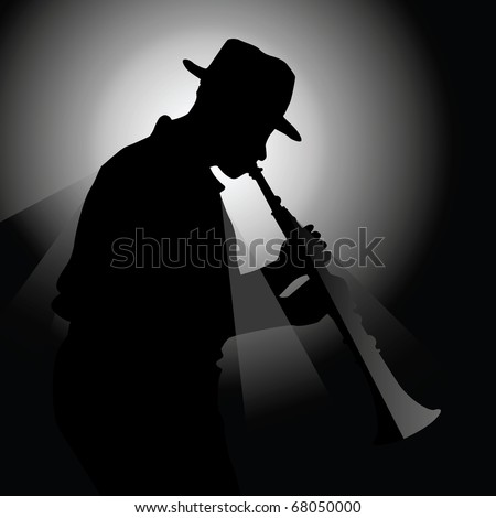 Vector illustration of a saxophonist