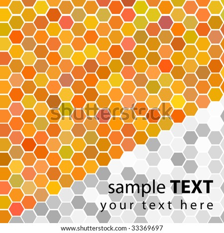 Vector - Illustration of a series of random orange gold seamless tiles with varying hue