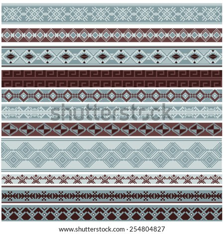 Vector illustration of a set of brushes, borders, frames in contrast colors, for scrapbook, decorations, templates and other design #254804827