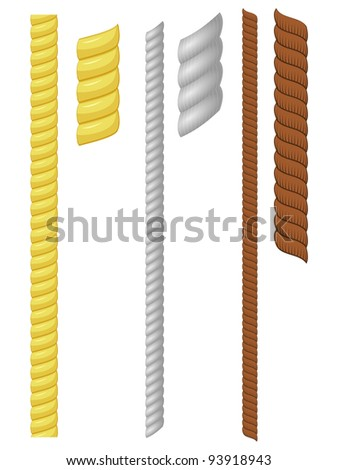 Vector illustration of a set of rope