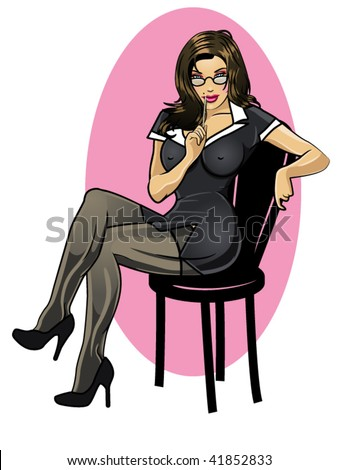 vector illustration of a  sexy