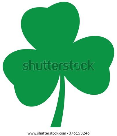 vector illustration of a shamrock icon St. Patrick day Irish symbol