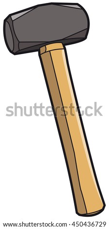 vector illustration of a sledge hammer, color