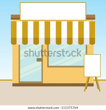 Vector illustration of a small retail store.