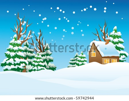 vector illustration of a snow