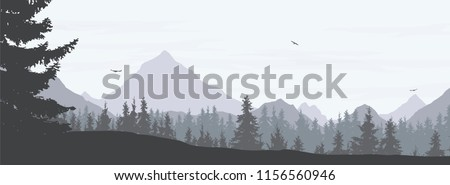 vector illustration of a snowy