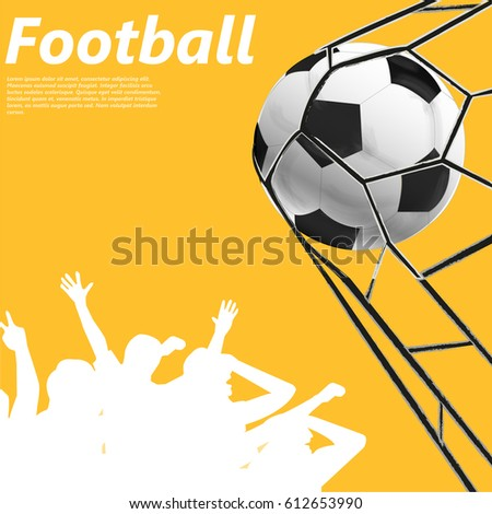 Vector illustration of a soccer ball. Football.