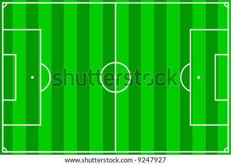 vector illustration of a soccer field with green stripes