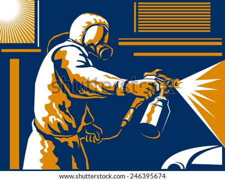 vector illustration of a spray
