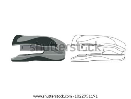 Vector illustration of a stapler