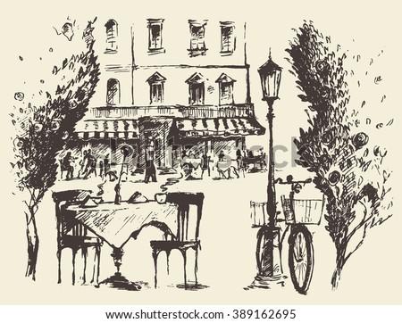 vector illustration of a street ...