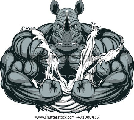 vector illustration of a strong