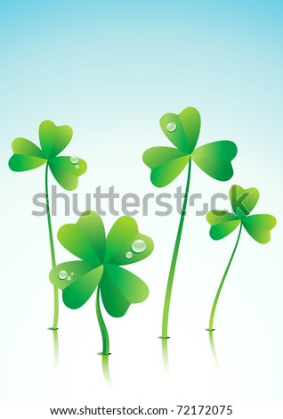 Vector illustration of a successful Four Leaf Clover