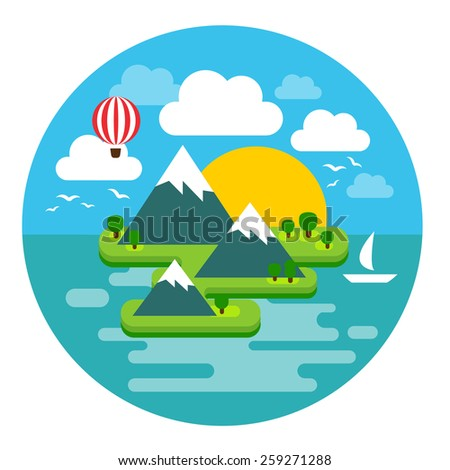 vector illustration of a summer