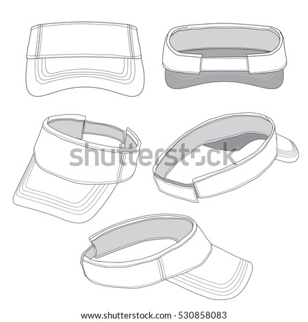Shutterstock Vector Illustration of a Sun Visor template
