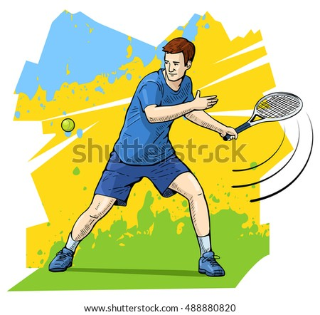 vector illustration of a tennis