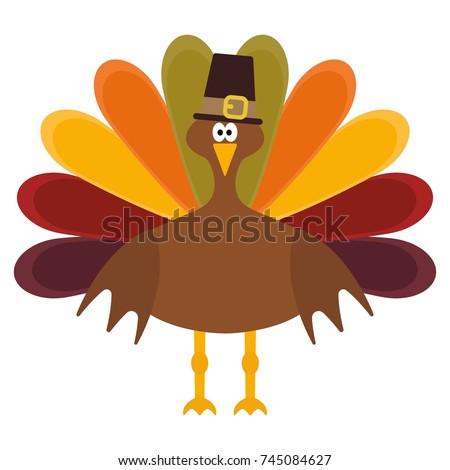 Vector illustration of a thanksgiving turkey