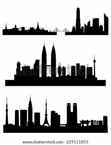 vector illustration of a three