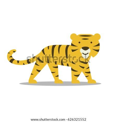 Vector Illustration of a Tiger