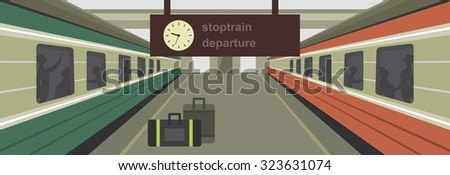 vector illustration of a train