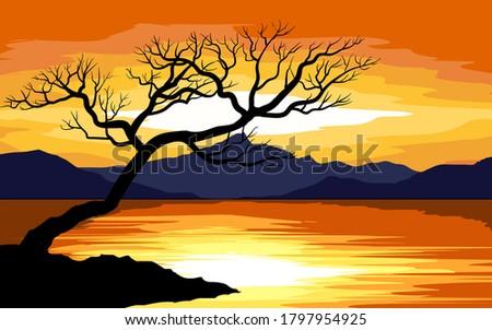 vector illustration of a tree