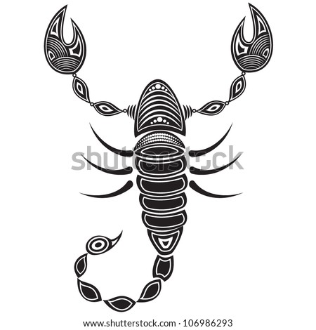 stock vector : Vector illustration of a tribal animal - Scorpion