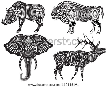vector illustration of a tribal