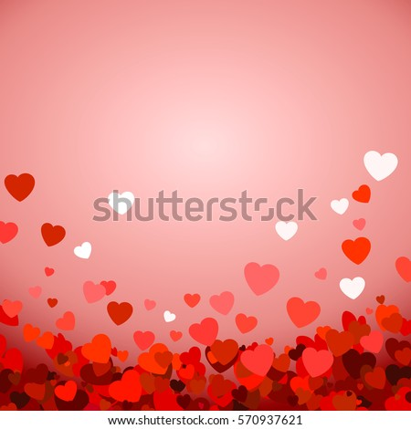 Vector Illustration of a Valentines Day Card. abstract vector background #570937621
