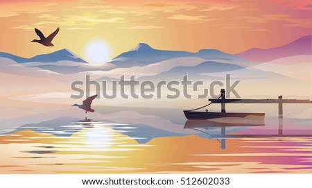 vector illustration of a view