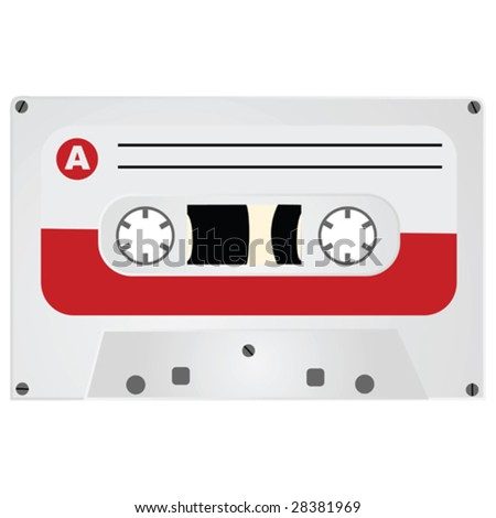 Vector illustration of a vintage style audio cassette