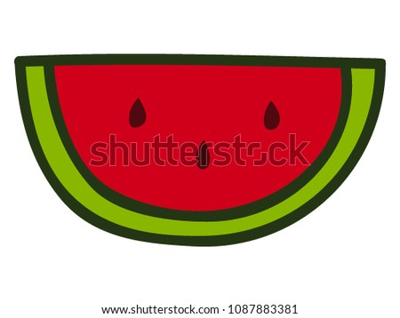 Vector illustration of a Water Mellon Slice