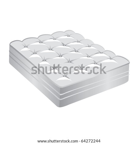 Vector illustration of a white mattress
