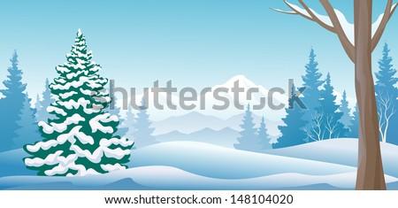 vector illustration of a winter