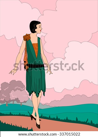vector illustration of a woman