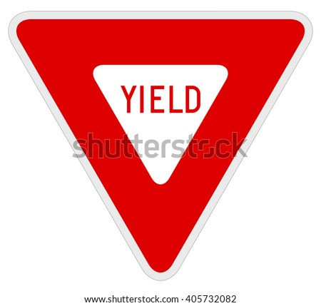 Vector illustration of a yield road sign.