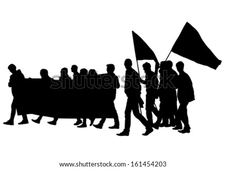 Vector illustration of a young man with a megaphone. Property release is attached to the file