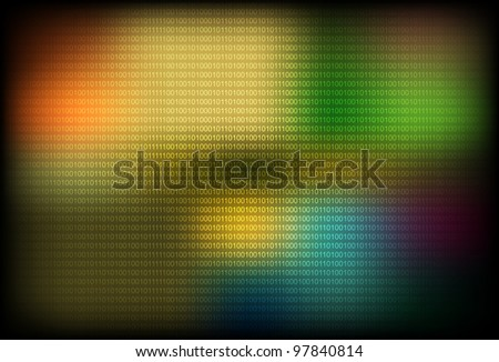 Vector illustration of abstract binary background