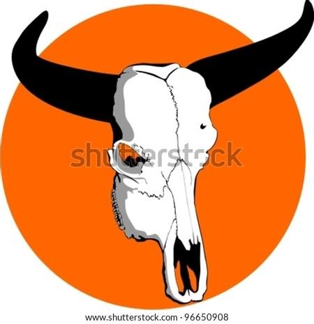 Vector illustration of abstract buffalo's skull