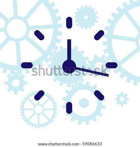 Vector illustration of abstract clock