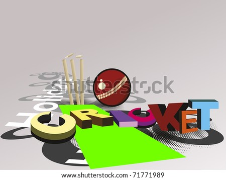 vector illustration of abstract cricket concept background, vector ...