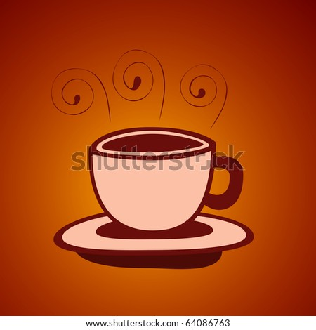 Vector illustration of abstract cup of tea or coffee