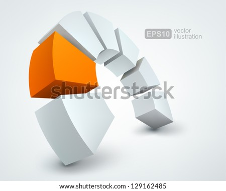 Vector Illustration of abstract 3D shapes logo design