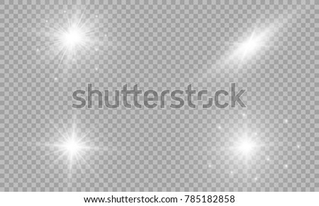 Stock Photo Vector illustration of abstract flare light rays