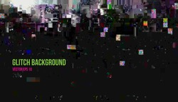 Vector illustration of abstract glitch effect background, data loss, damaged digital information, signal error, bug, digital noise. Vector EPS 10