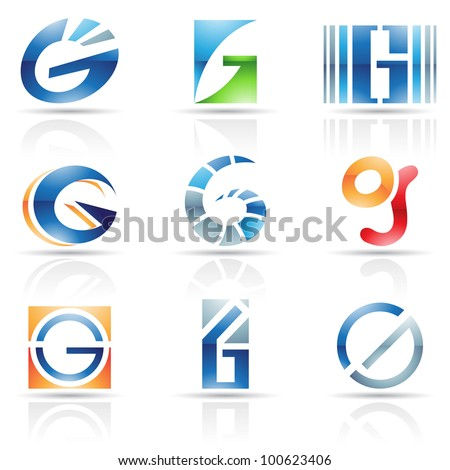 Vector illustration of abstract icons based on the letter G
